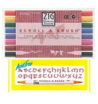ZIG雙頭雙線筆+水彩筆